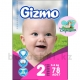 Подгузники Gizmo mini Jumbo 2 (3-6кг) 78шт