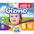 Подгузники Gizmo junior Jumbo 5 (11-25кг) 42шт