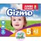 Подгузники Gizmo junior Jumbo 5 (11-25кг) 42шт