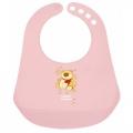 Слюнявчик пластиковый цветной Canpol Babies для девочек