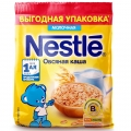 Каша Nestle молочная овсяная  200 г с 4 мес (мягкая упаковка)