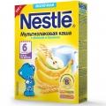 Каша молочная Nestle мультизлаковая с яблоком и бананом (с 6 мес.) 250 г