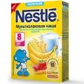 Каша молочная Nestle мультизлаковая с бананом и кусочками земляники  с 8 мес 250 г