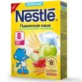 Каша молочная Nestle пшеничная с кусочками яблока и земляникой с 8 мес  250 г