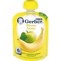 Пюре Gerber яблоко-банан 90г (6м)