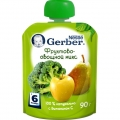 Пюре Gerber фруктово-овощной микс 90г 6м