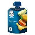 Пюре Gerber 4 фрукта 90г (6м)
