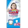Подгузники-трусики для девочек Goon XL 12-20кг 38шт