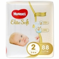 Подгузники Huggies Elite Soft 2 (3-6кг) 88 шт.