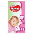 Подгузники Huggies Ultra Comfort для девочек 4+ (10-16 кг) 68 шт