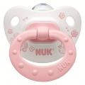 Пустышка ортодонтическая NUK для сна  Baby Rose 1 шт с 0-6 мес. Силикон