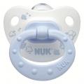 Пустышка ортодонтическая NUK для сна  Baby Blue  1 шт с 6-18 мес. Силикон