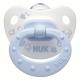 Пустышка ортодонтическая NUK для сна Baby Blue 1 шт с 0-6 мес. Силикон