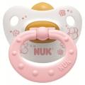 Пустышка ортодонтическая NUK для сна Baby Rose 1 шт с 0-6 мес. Латекс