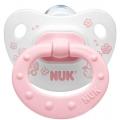 Пустышка ортодонтическая NUK для сна  Baby Rose 1 шт с 6-18 мес. Силикон