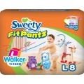 Трусики Sweety Fit Pantz L 8шт (11-15кг)