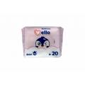 Детские влажные салфетки 20шт Mello