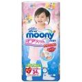 """Японские трусики """"Moony"""" для девочки, оригинал, размер B.Big, 13-25 кг, 34 шт"""