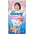 """Японские трусики """"Moony"""" для девочки, оригинал,размер L, 9-14 кг, 44шт"""