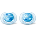 Пустышка Philips Avent ultra soft Космос 6-18 мес 2шт