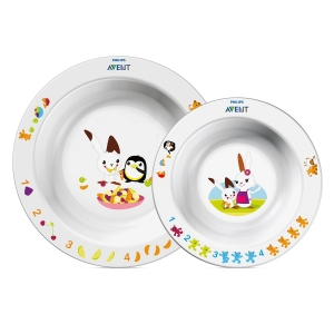 Набор тарелок Philips Avent 6 мес+ 230 и 450 мл SCF708/00