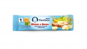 Фруктовый батончик с вафелькой Gerber DoReMi яблоко и банан с 1 года 25 гр.