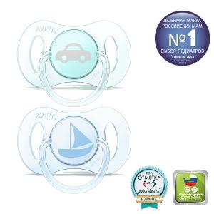 Пустышка Philips AVENT Мини дизайн для мальчика (с 0 до 2 мес. 2 шт)