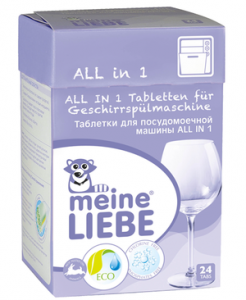 Таблетки для посудомоечной машины Meine Liebe ALL IN 1, 24шт