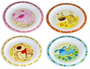 Тарелка пластиковая мелкая Smile, Canpol Babies
