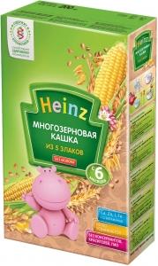 Безмолочная  Многозерновая кашка 5 злаков Heinz с 6 мес, 200гр