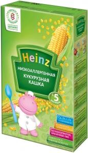 Безмолочная  Низкоаллергенная кашка  Кукурузная Heinz с 5 мес, 200гр