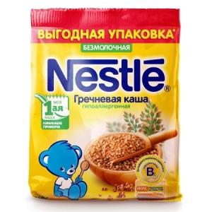 Каша Nestle безмолочная гречневая  160г с 4месяцев (мягкая упаковка)