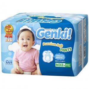 """Японские подгузники-трусики """"Genki"""" размер М, 7-10кг, 32шт"""