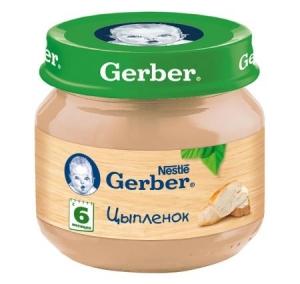 Пюре Gerber цыплёнок 80 г с 6 месяцев
