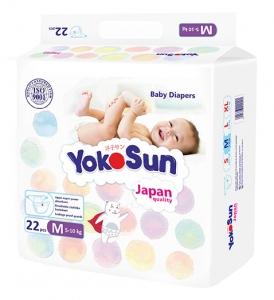 Подгузники YokoSun, размер М, от 5-10кг, 22шт