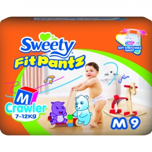 Трусики Sweety Fit Pantz M 9шт (7-12кг)