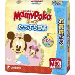 """Японские подгузники """" Mamy Poko """", размер M, от 6-11 кг, 90 шт"""
