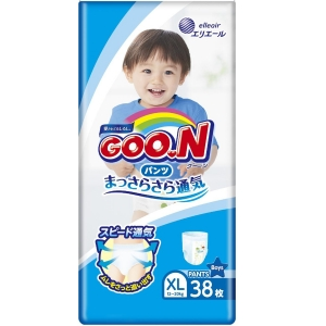 Подгузники-трусики для мальчиков Goon XL 12-20кг 38шт