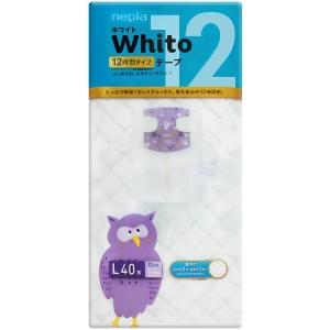 Whito 12  Подгузники размер L (9-14 кг) 40 шт